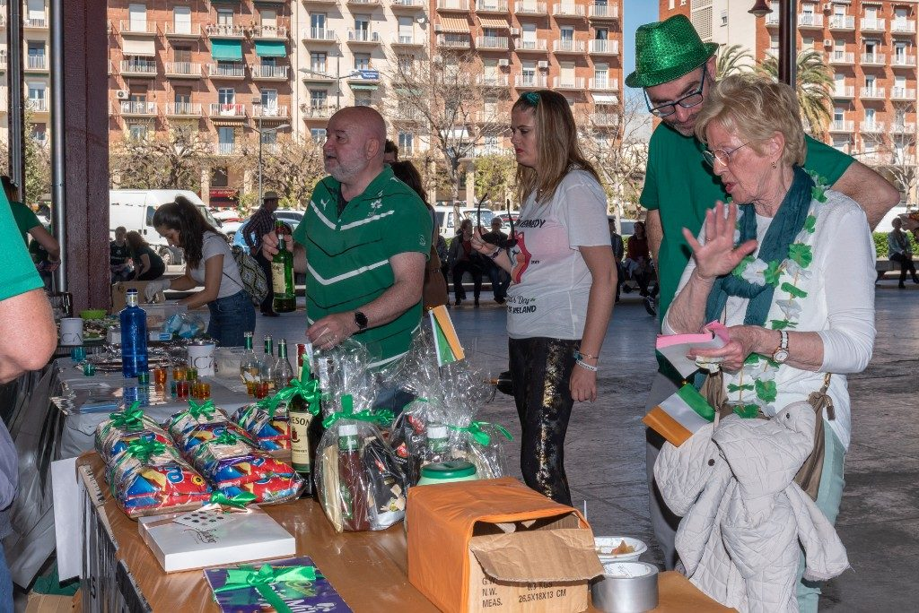 Raffle table at 2019 St. Patrick's Day Festival