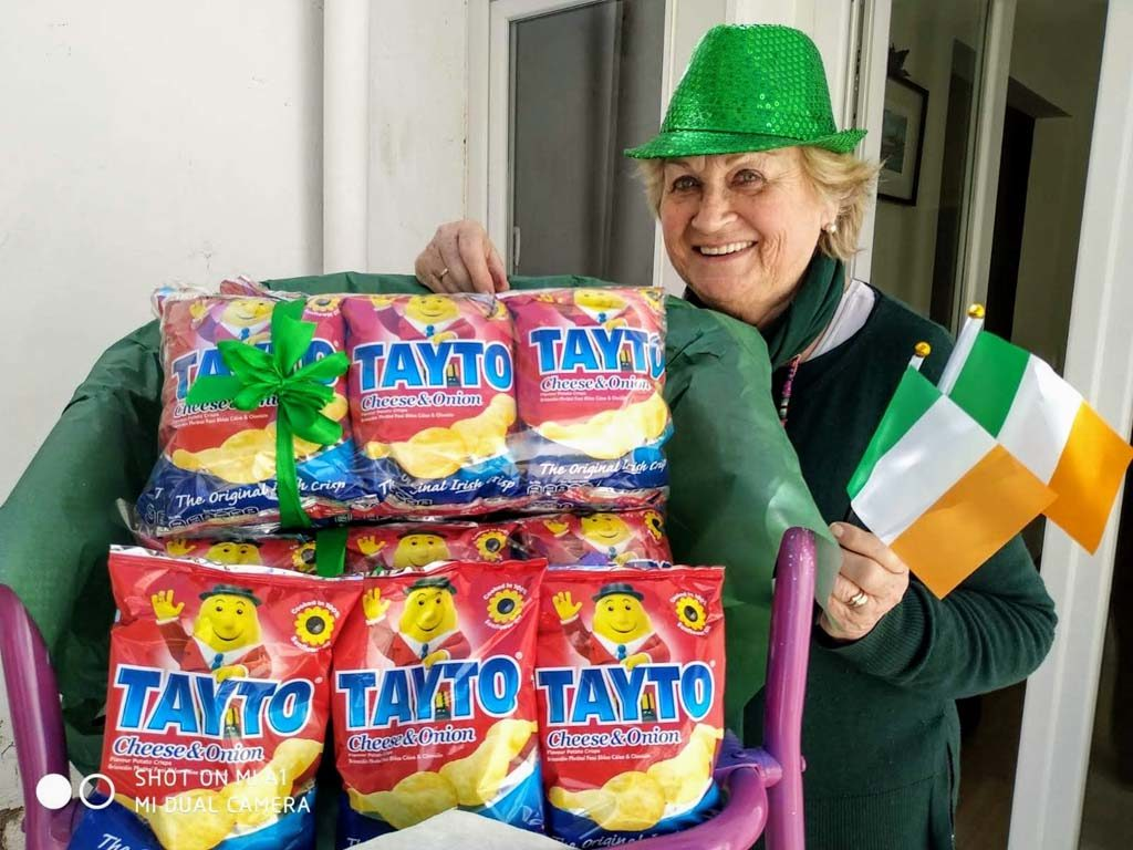 Patricia with Taytos